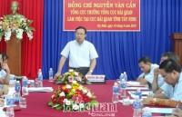 Director General Nguyen Van Can works with Tay Ninh Customs Department