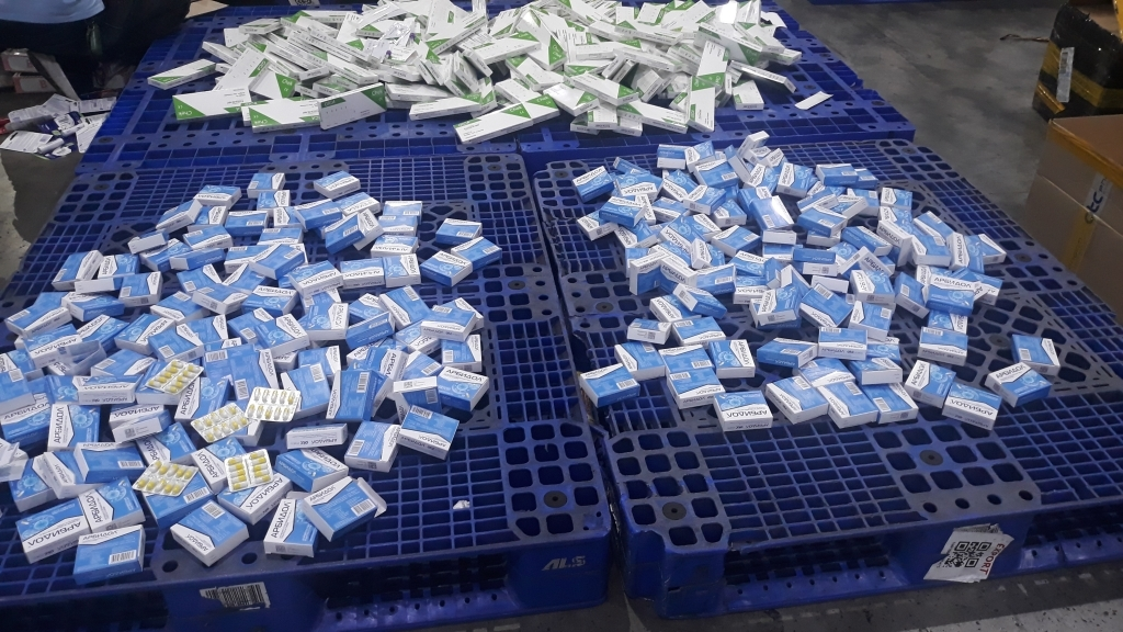 Customs seizes hundreds of illegally imported boxes of medicine and Covid-19 rapid test kits