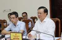Minister of Finance works with Quang Binh on performance of financial - budget task