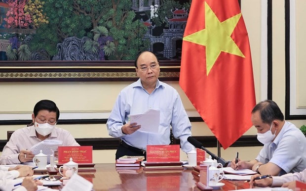 President chairs meeting on project on building socialist rule-of-law state hinh anh 1