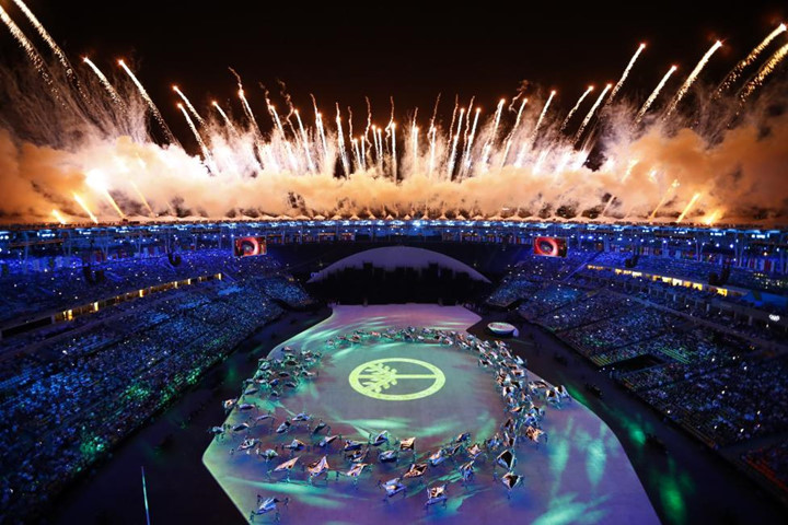 in pictures rio 2016 opening ceremony