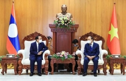 Vietnamese State leader meets with Lao Vice Presidents