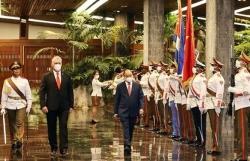 President Nguyen Xuan Phuc welcomed in Cuba