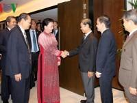 Top Vietnamese legislator meets Singaporean businesses