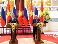 Official welcoming ceremony for Russian PM Dmitry Medvedev