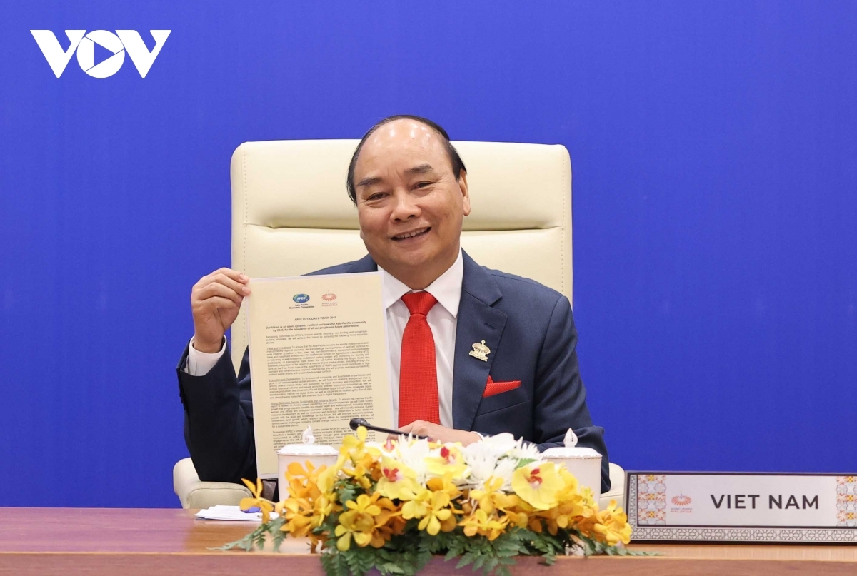 the 27th APEC Economic Leaders' Meeting completed the implementation of the initiative on building the Post-2020 APEC Vision proposed by Vietnam and adopted at the 25th APEC Economic Leaders' Meeting held in Vietnam in 2017.