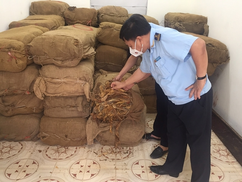 Exhibits are temporarily seized at Tra Linh Customs Branch. Photo provided by Cao Bang Customs.