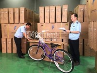 Detect an export shipment of bycicle forging Vietnam origin