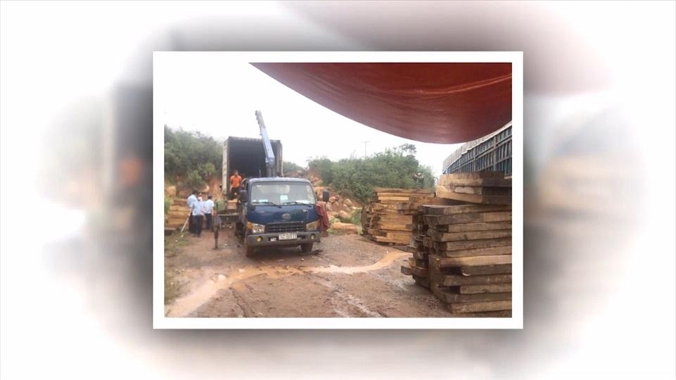 Smuggled precious wood shipment seized by Customs at La Lay Border Gate